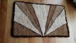 Hand knotted alpaca fibre mat. 1.1m x 70cm $90 NZD