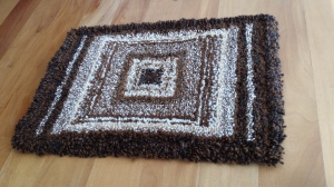 hand knotted alpaca fibre mat 70cm x 48cm $70 NZD