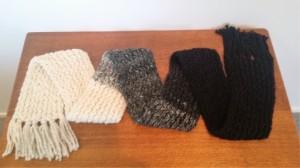 hand knitted alpaca scarf $50 NZD