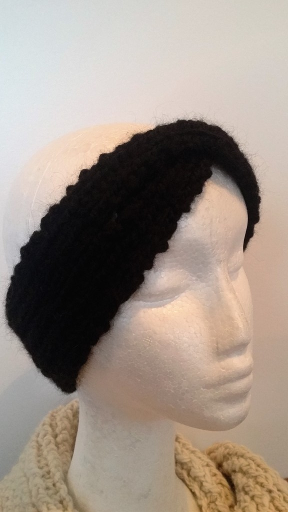 black alpaca headband $20 NZD