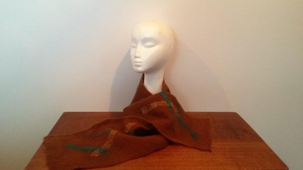 soft felted alpaca scarf $70 NZD