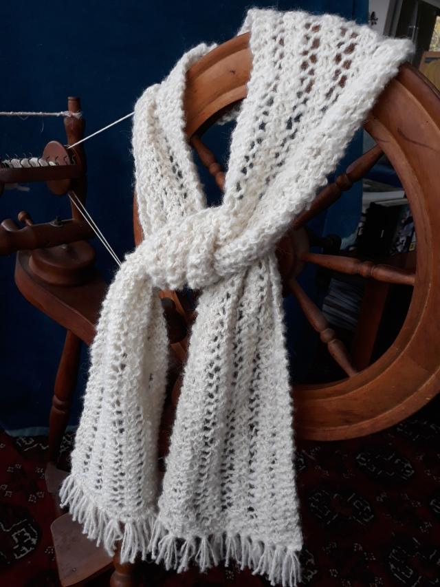 Handspun alpaca scarf 17cm x 1.725 $40NZD