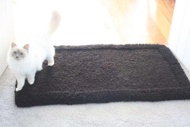 hand knotted alpaca fibre floormat 110cm x 70cm $425 NZD
