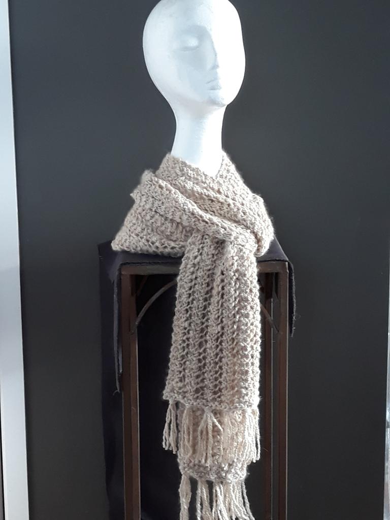 supersoft handspun latte alpaca scarf 225x16cm $155 NZD