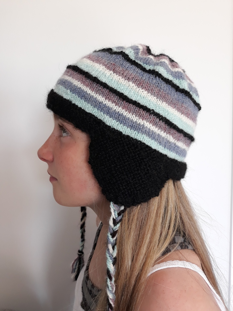knitted aviator hat $35 NZ