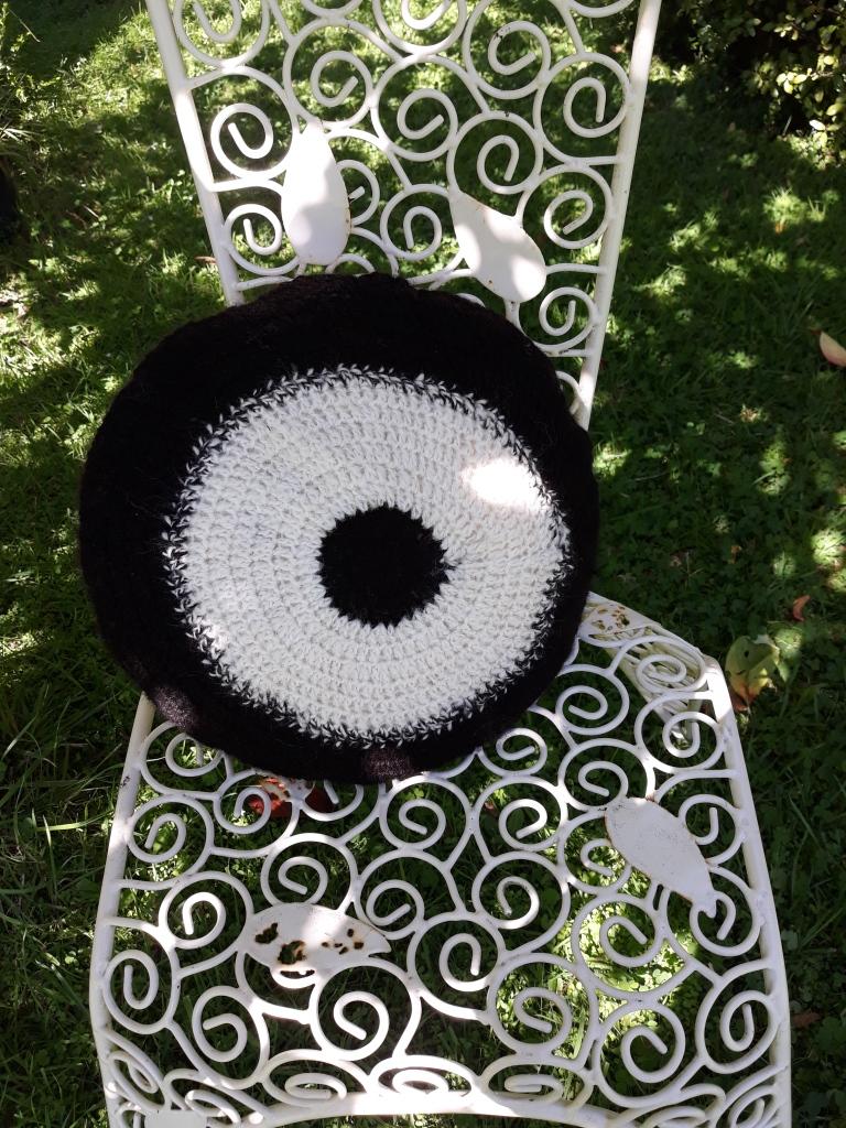 alpaca knitted cushion $50 NZD