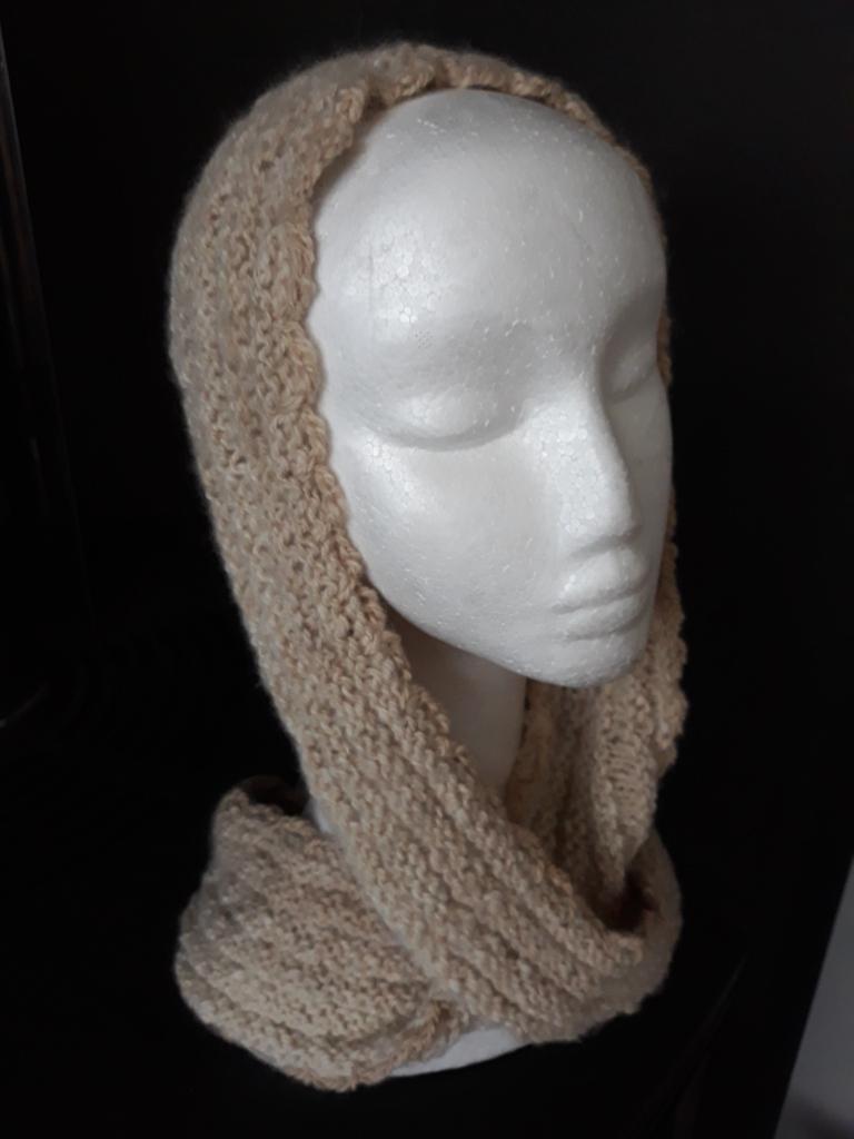 Light infinity fawn alpaca scarf $60 NZD